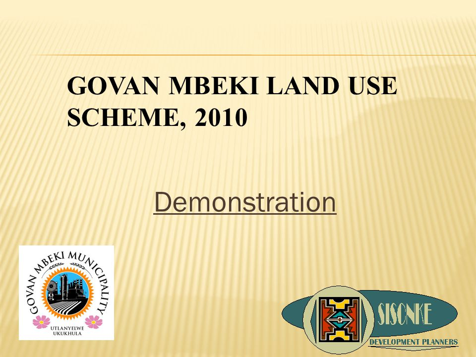 Demonstration GOVAN MBEKI LAND USE SCHEME, 2010