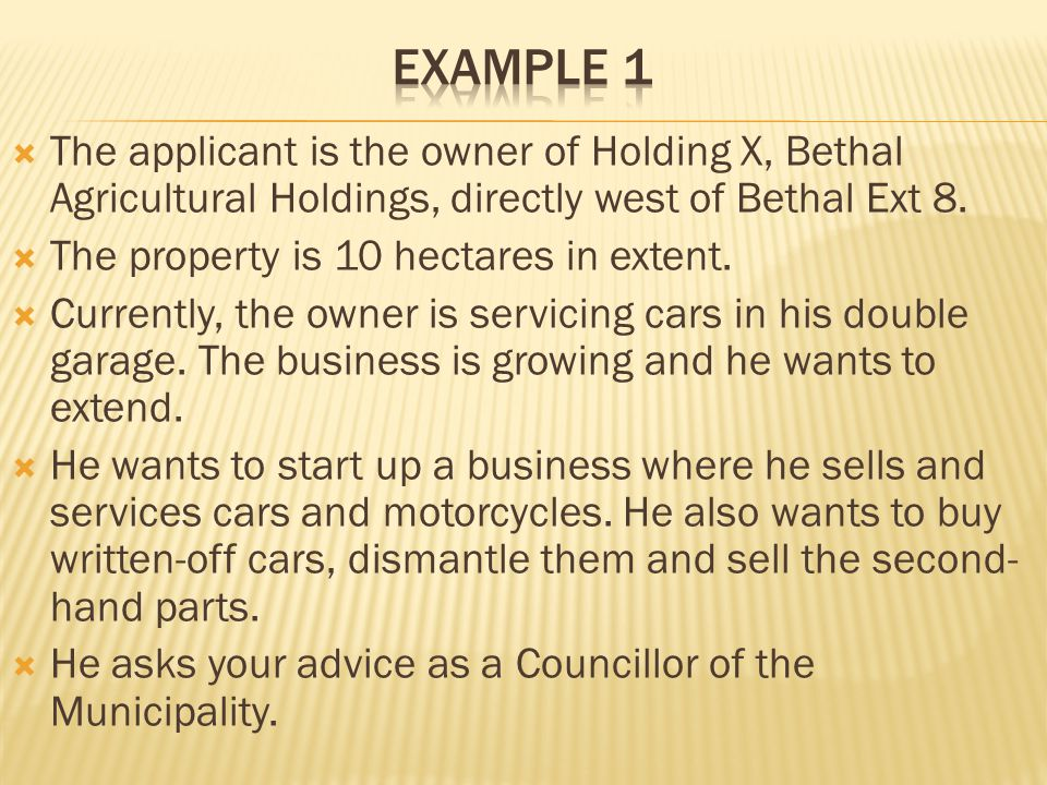 The applicant is the owner of Holding X, Bethal Agricultural Holdings, directly west of Bethal Ext 8.