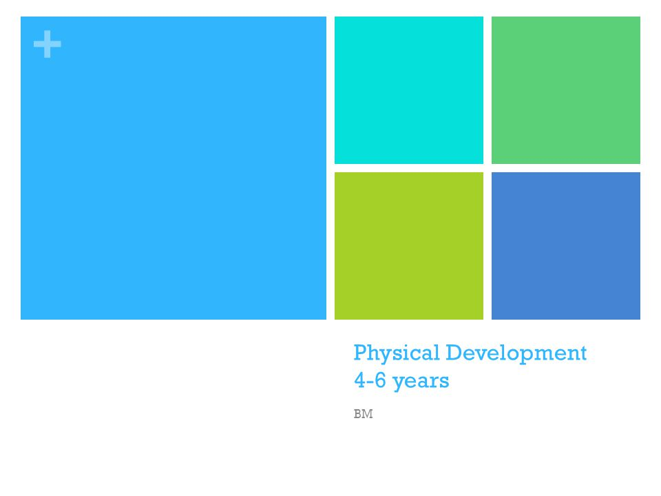 + Physical Development 4-6 years BM