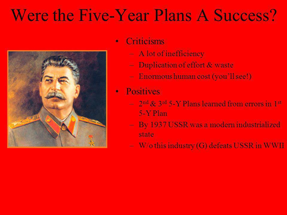 Second Five-Year Plan (1933-1937) Built on achievements of 1 st 5-Years –Heavy industry still priority Other industries developed –Lead, tin, zinc min