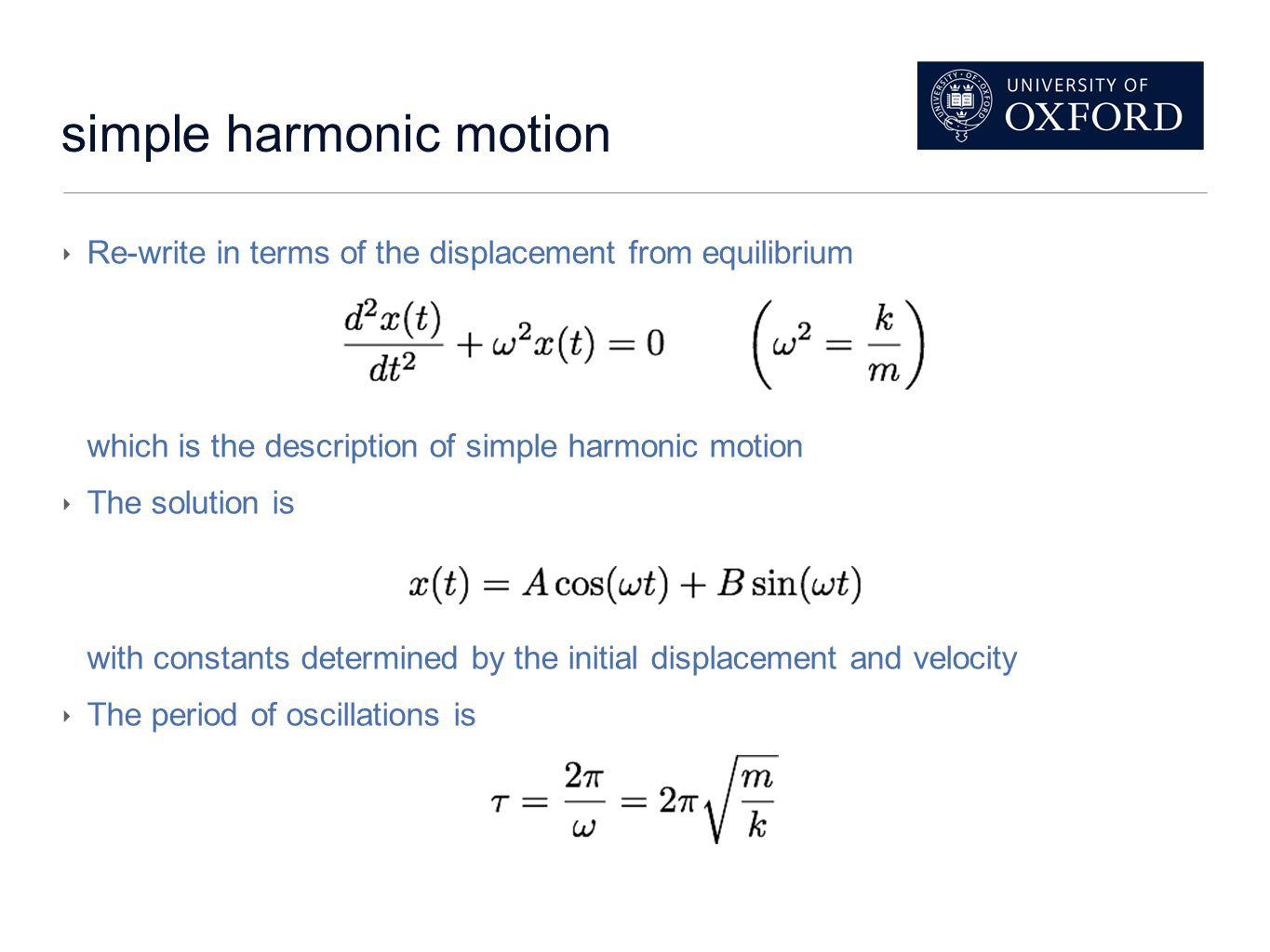 Putting maths to the test: Prediction At equilibrium (using Hookes law T=ke): Therefore: So the period should be:
