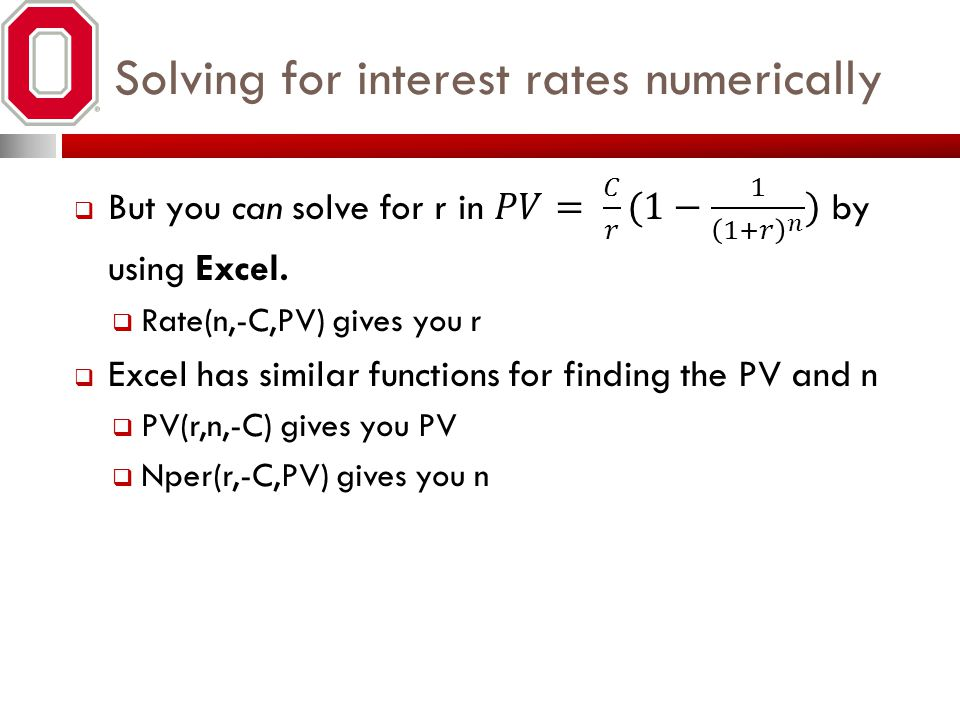 Solving for interest rates numerically
