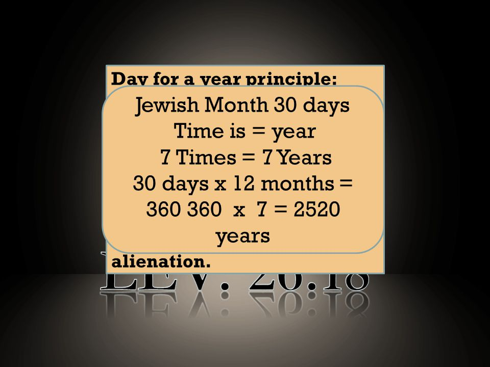 What is the longest time prophecy in scripture Question