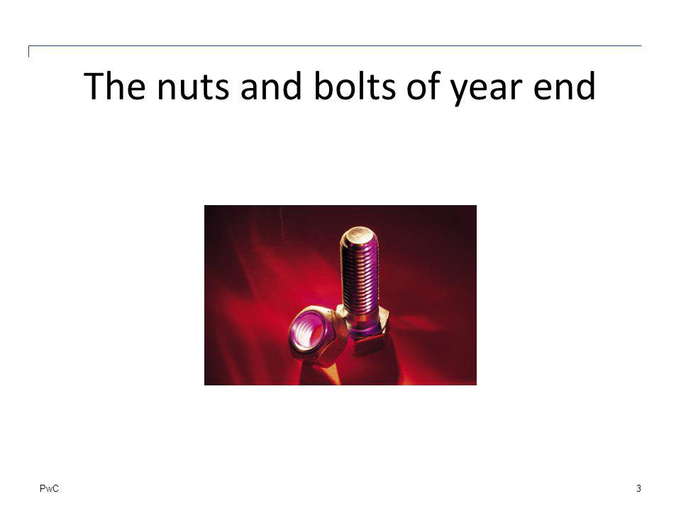 PwC The nuts and bolts of year end 3