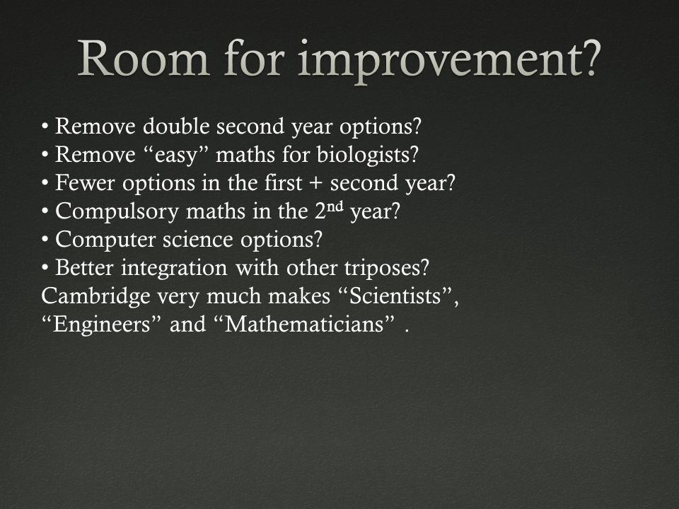 Remove double second year options. Remove easy maths for biologists.