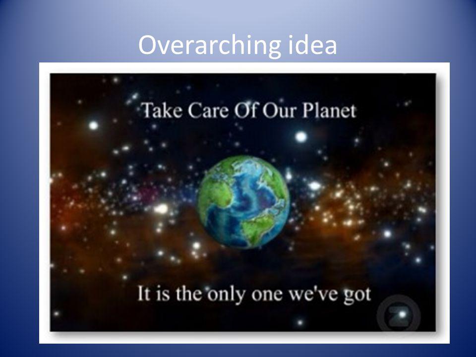Overarching idea
