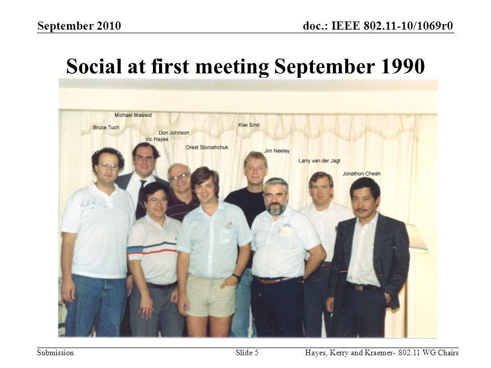 doc.: IEEE 802.11-10/1069r0 Submission The metamorphosis September 2010 Hayes, Kerry and Kraemer- 802.11 WG ChairsSlide 26