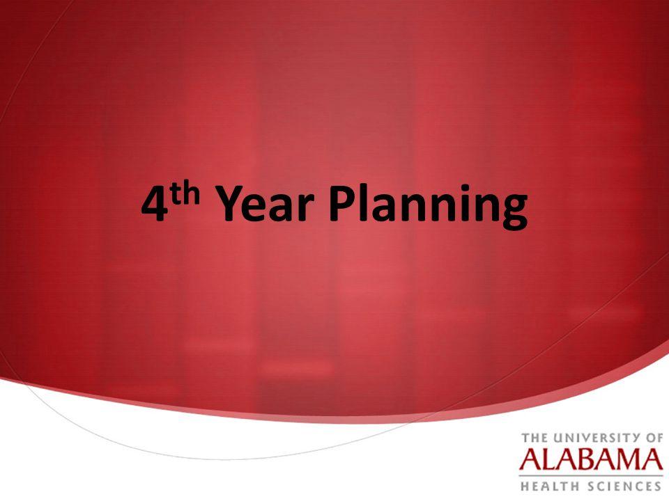 4 th Year Planning