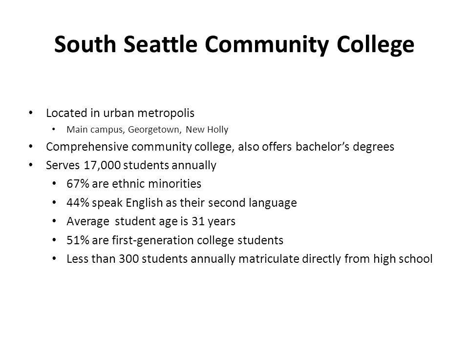 Future Directions Expand to all high schools in service area (4 total) – Fundraising Campaign - $4 million – Vision for entire city of Seattle Enhance Readiness Academy – earlier Conduct additional data analysis Get the word out!
