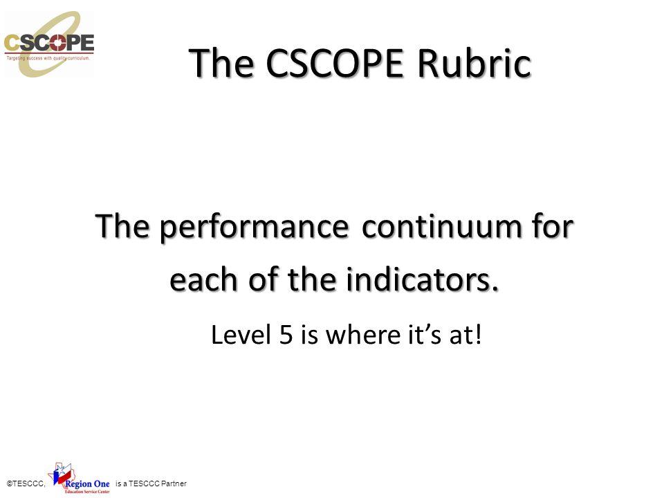 ©TESCCC, is a TESCCC Partner Level 5 Processes and Tools Vertical Alignment Study