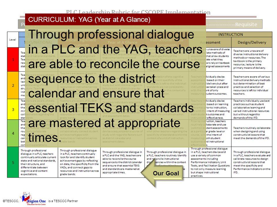 ©TESCCC, is a TESCCC Partner Instructional Focus Documents IFD- The Roadmap of Instruction, but the teacher still gets to drive.