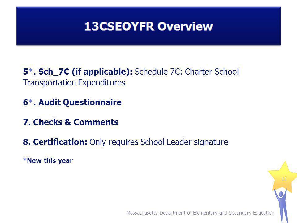 5*. Sch_7C (if applicable): Schedule 7C: Charter School Transportation Expenditures 6*.