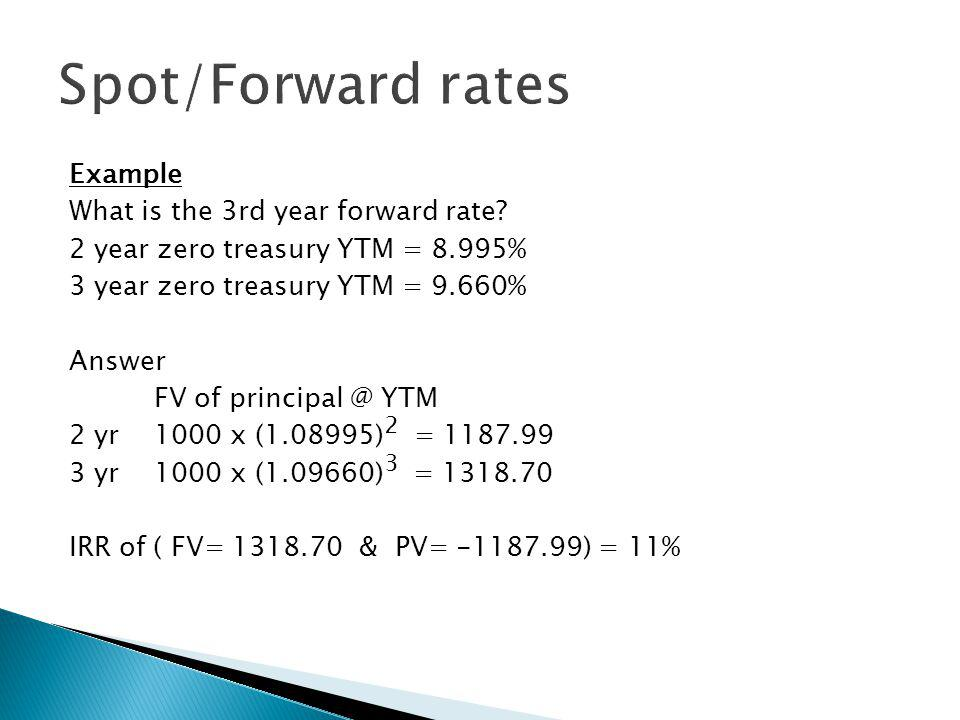 Example What is the 3rd year forward rate.