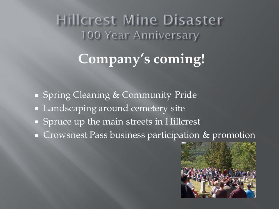 Companys coming.