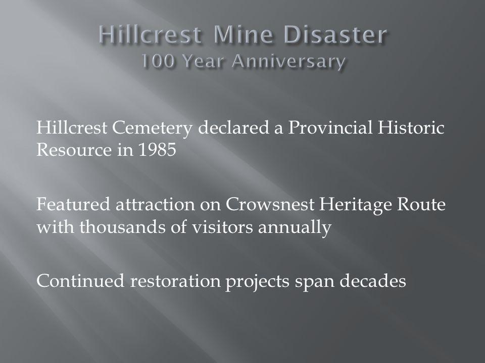 Monument to Hillcrest Mine Disaster - 2000