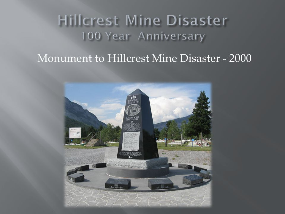 Celebrating the Spirit of the Miner Saturday, June 21 st Bellecrest Days events – Hillcrest Pancake breakfast, parade, wagon rides, heavy horse pull, guided hikes to Hillcrest mine site Hillcrest Miners Club featuring Maria Dunn Evening events - Museum event - live music