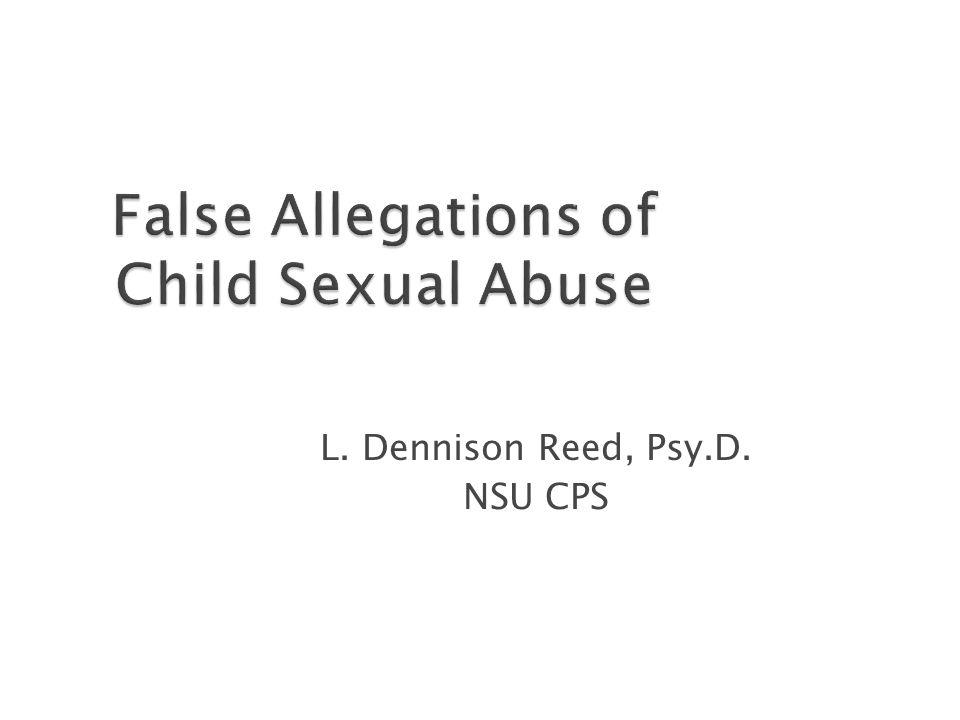 L. Dennison Reed, Psy.D. NSU CPS