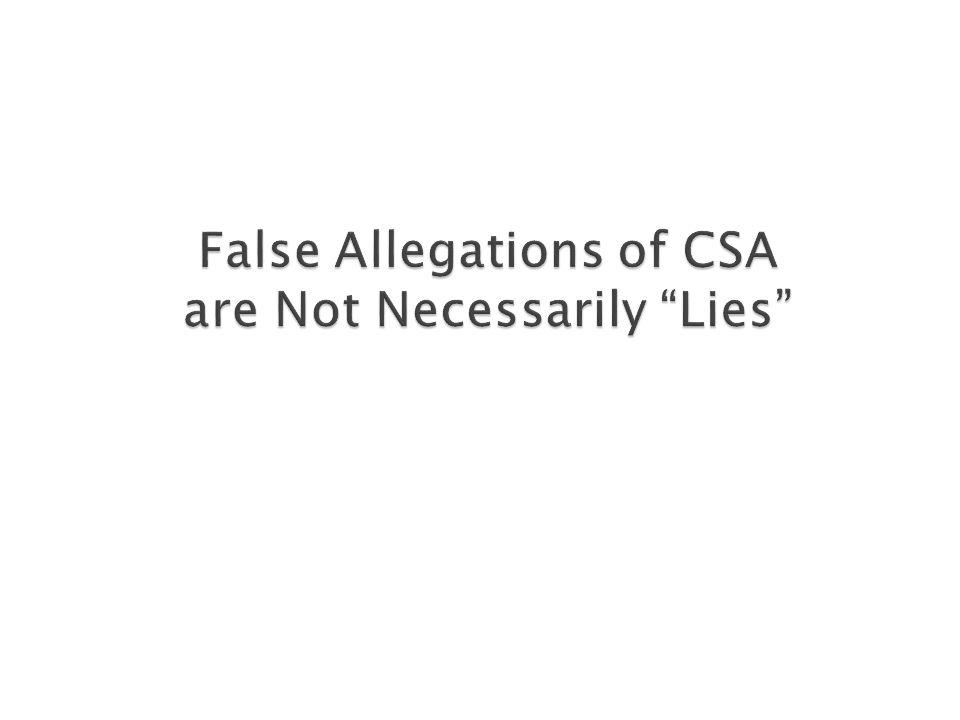 An innocent mistake is not a lie