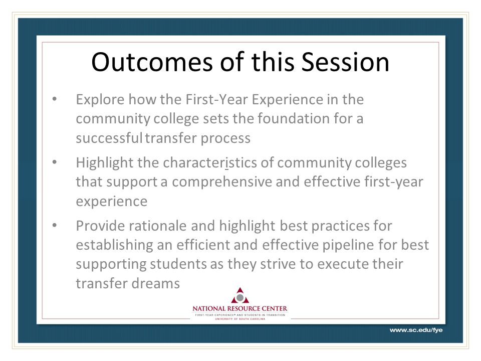 Fulfilling the Promise of the Community College: Increasing First-Year Student Engagement and Success