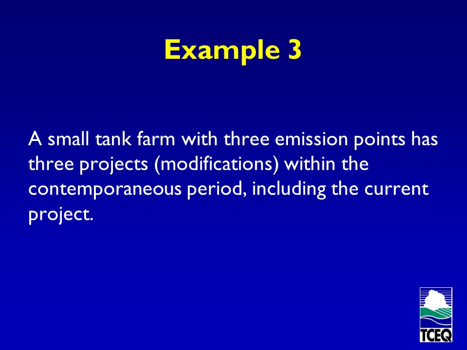 Example 2 An Alternate Approach Set a separate enforceable limit for the affected boiler. Project increases are determined based on the individual boi