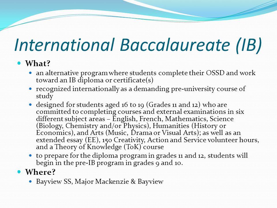 International Baccalaureate (IB) What.