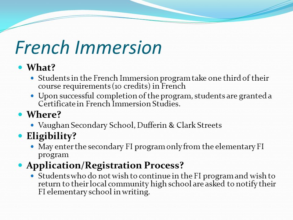 French Immersion What.