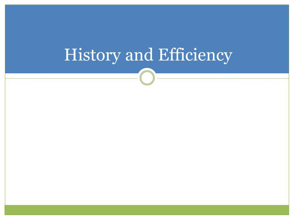 History and Efficiency