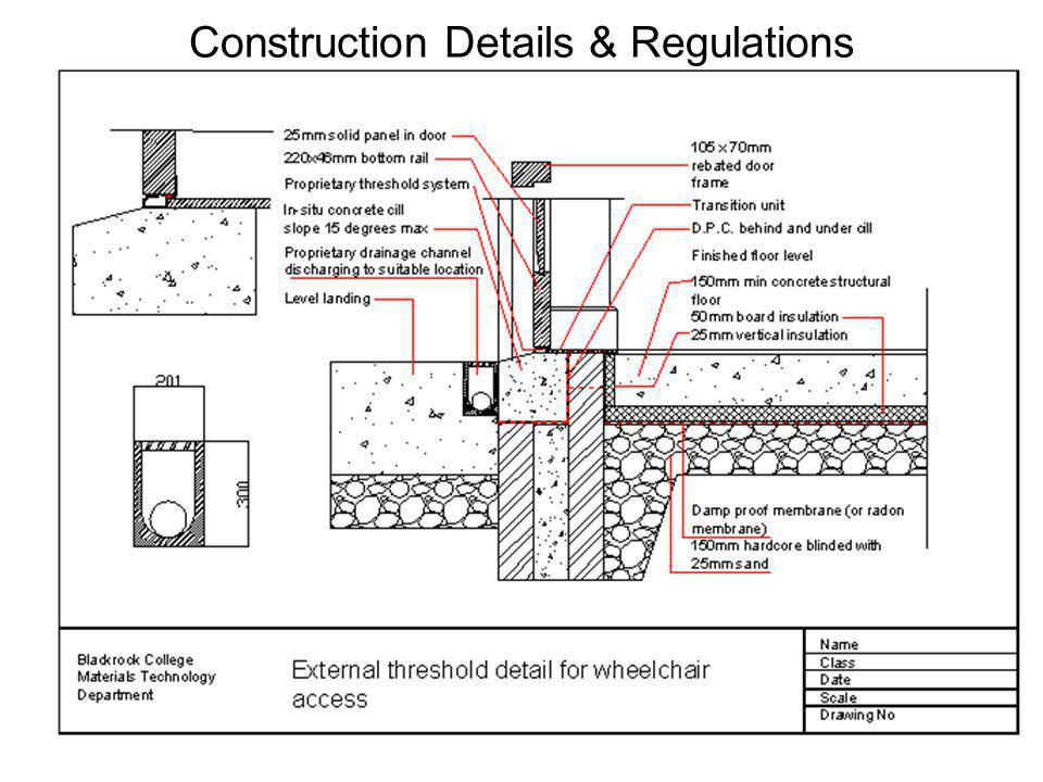 Construction Details & Regulations