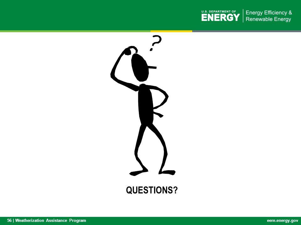 56 | Weatherization Assistance Programeere.energy.gov QUESTIONS?