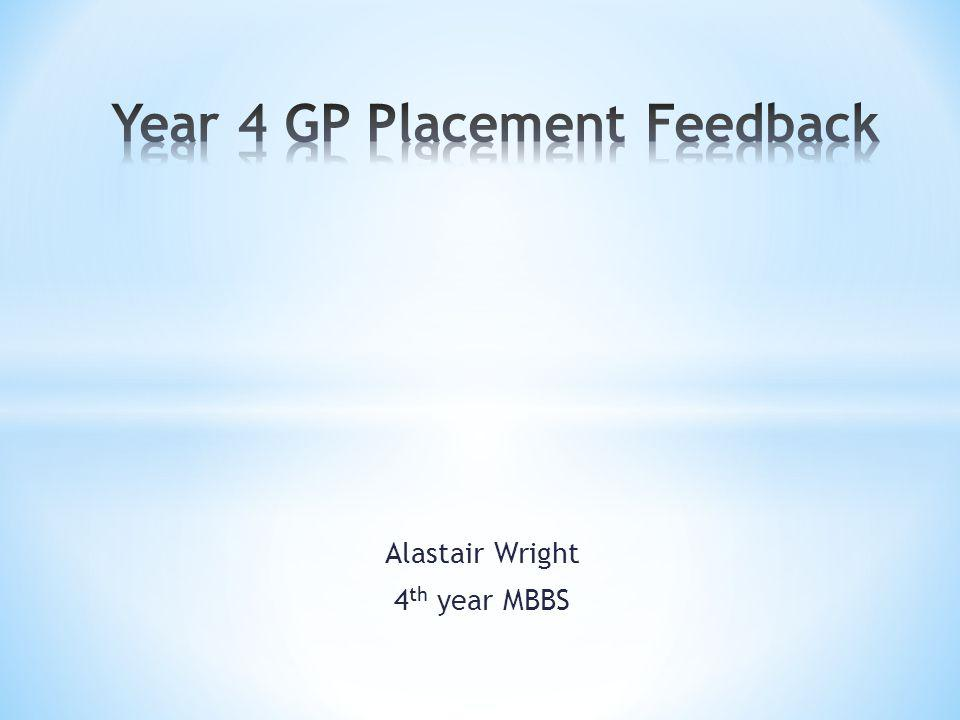 Alastair Wright 4 th year MBBS