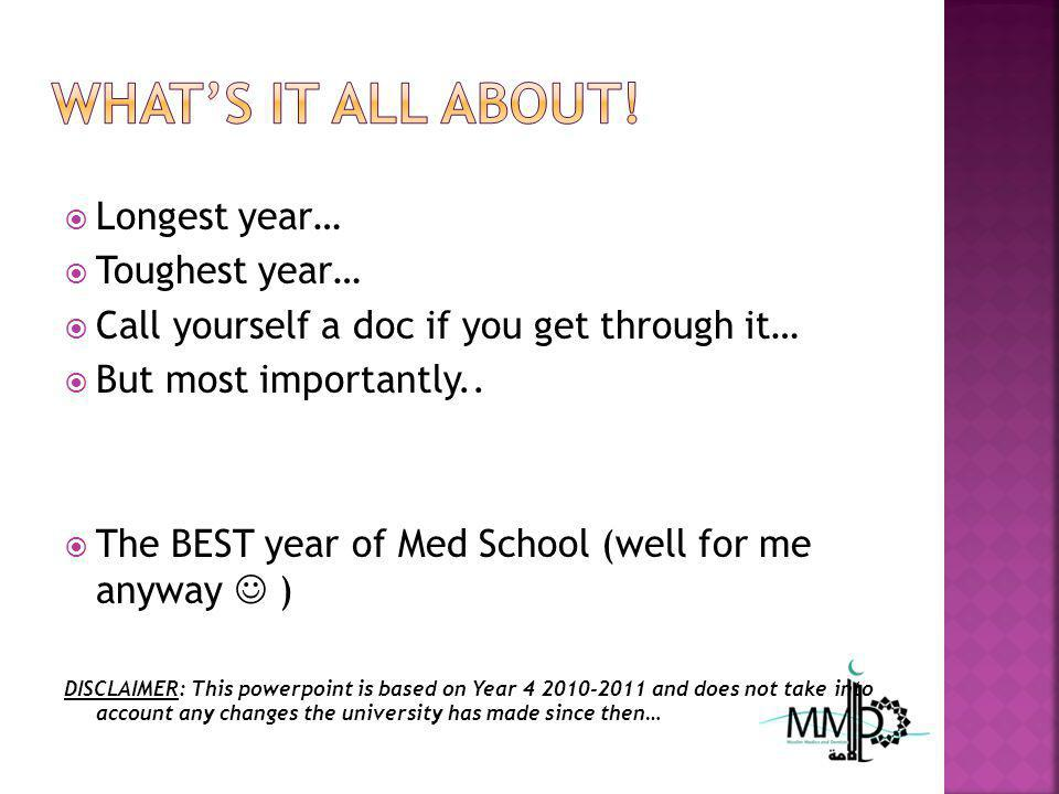 Longest year… Toughest year… Call yourself a doc if you get through it… But most importantly..