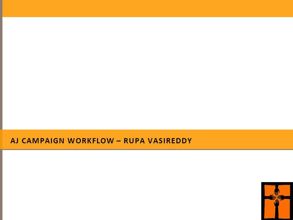 AJ CAMPAIGN WORKFLOW – RUPA VASIREDDY