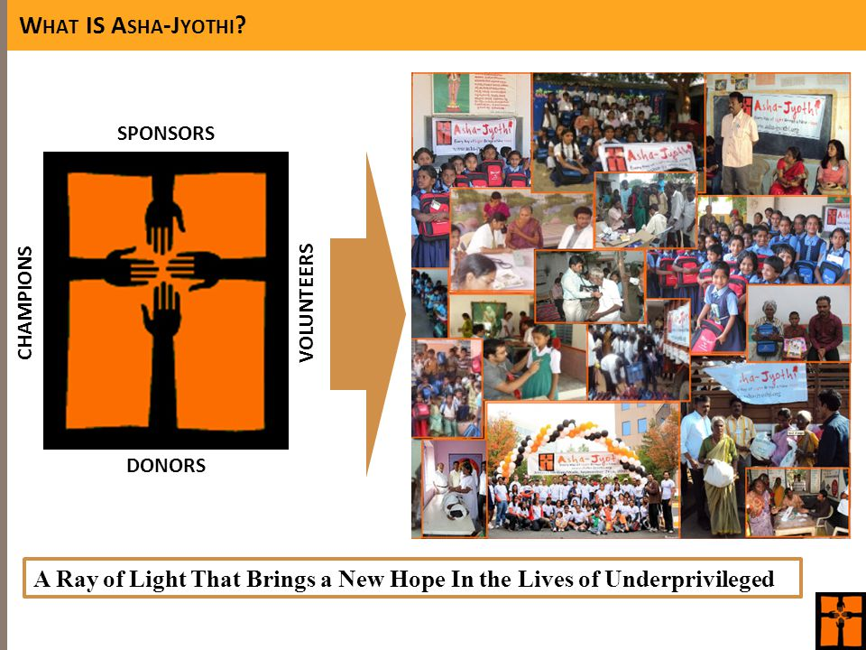 W HAT IS A SHA -J YOTHI ? DONORS SPONSORS VOLUNTEERSCHAMPIONS A Ray of Light That Brings a New Hope In the Lives of Underprivileged Solar Lamps Donate