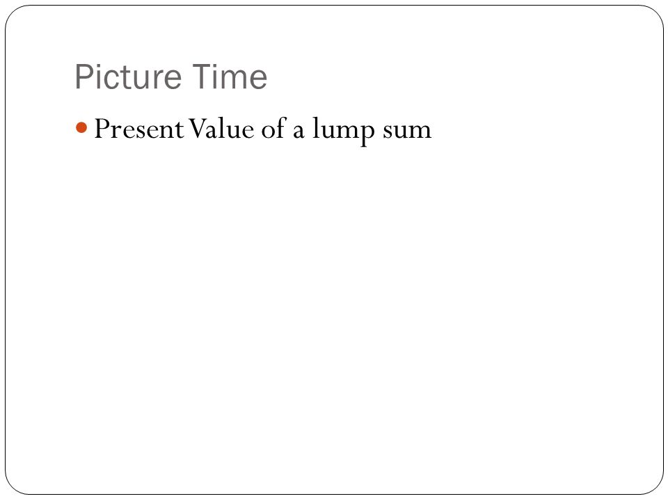 Picture Time Present Value of a lump sum