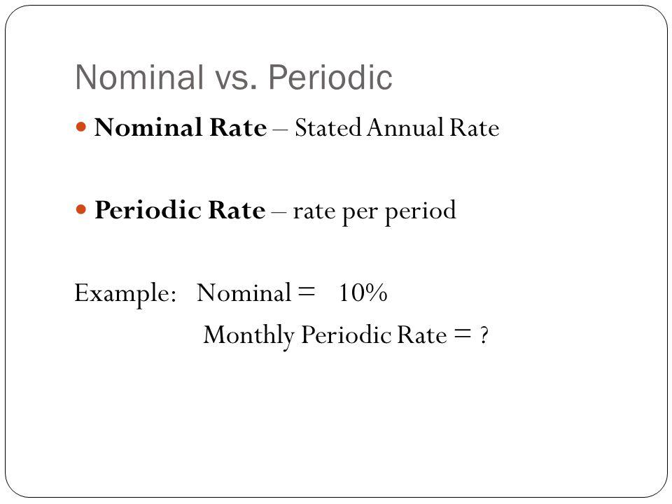 Nominal vs.