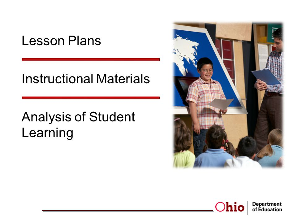 Lesson Plans Instructional Materials Analysis of Student Learning