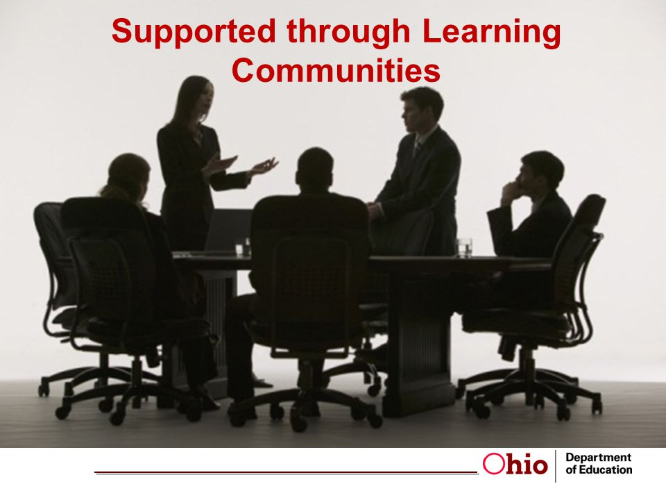 Supported through Learning Communities