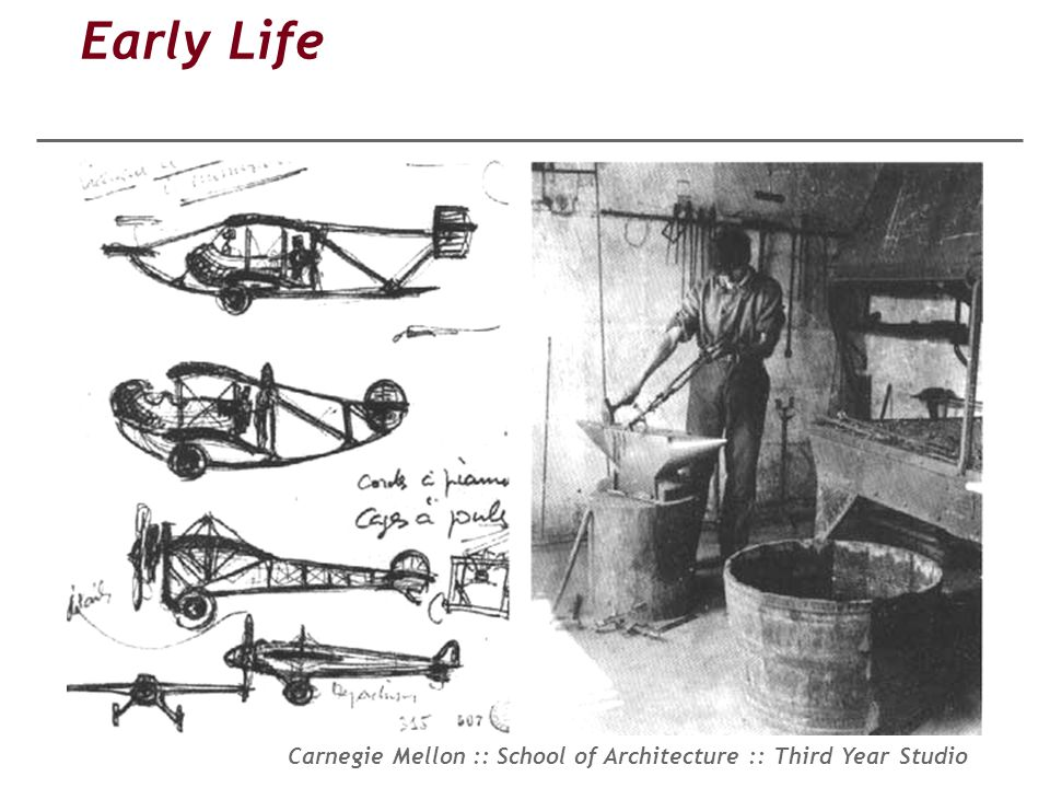 Carnegie Mellon :: School of Architecture :: Third Year Studio Early Life