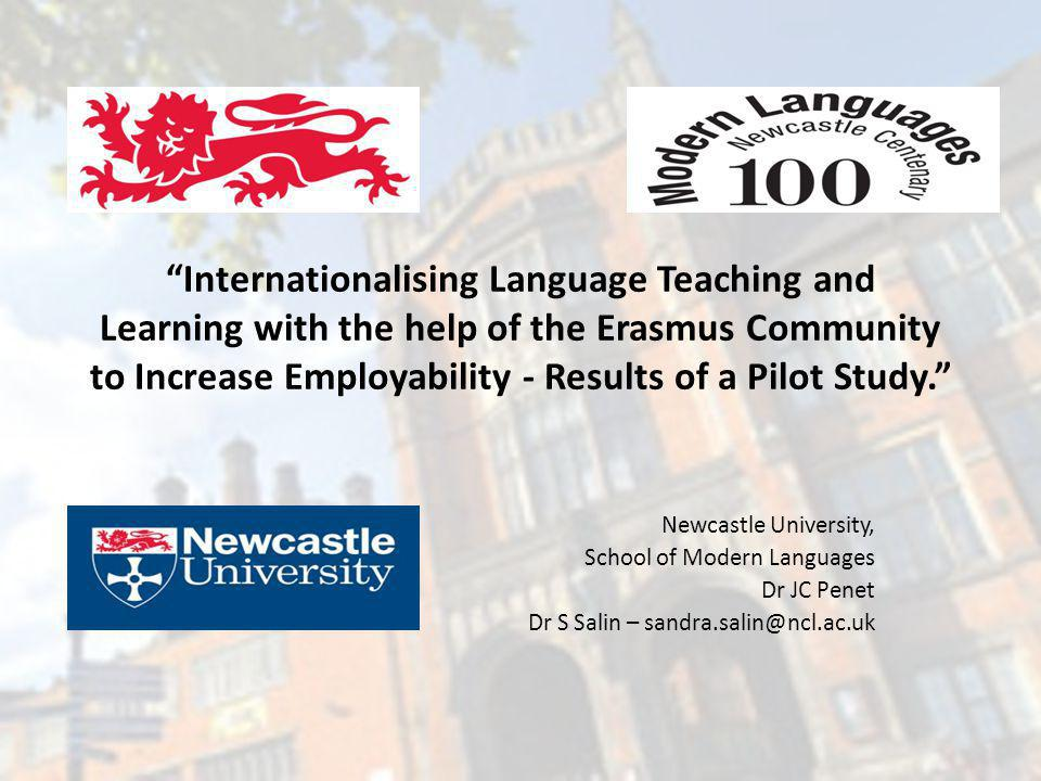 Internationalising Language Teaching and Learning with the help of the Erasmus Community to Increase Employability - Results of a Pilot Study.