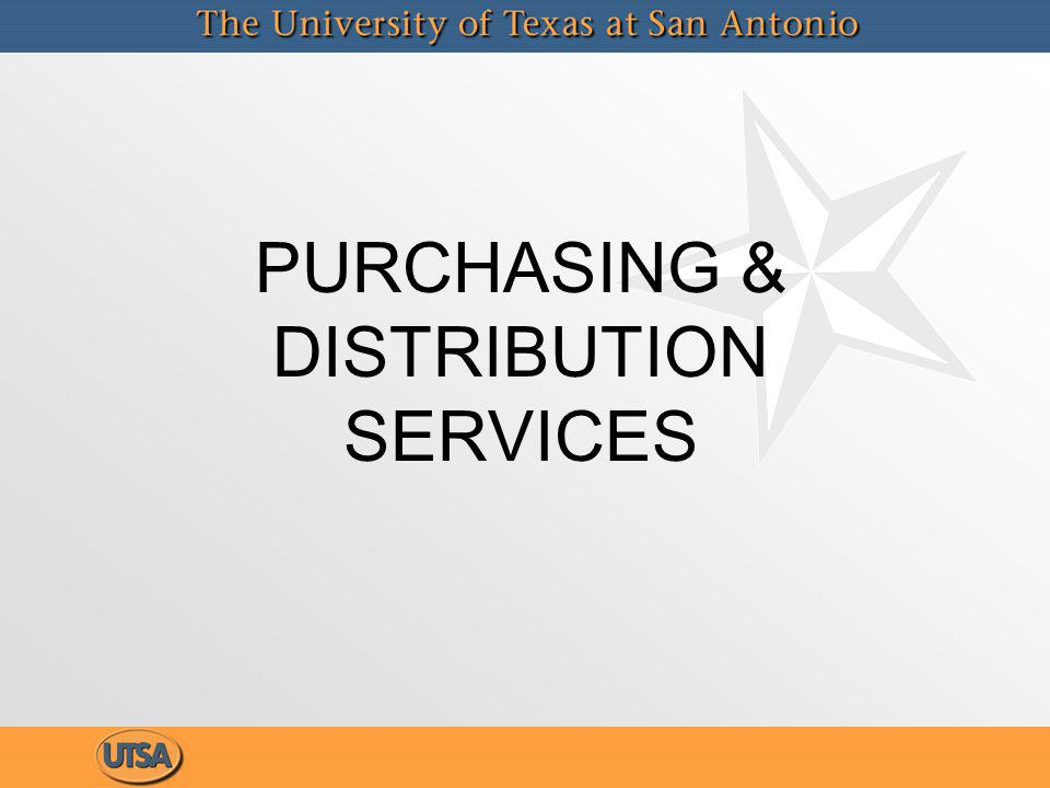 PURCHASING & DISTRIBUTION SERVICES