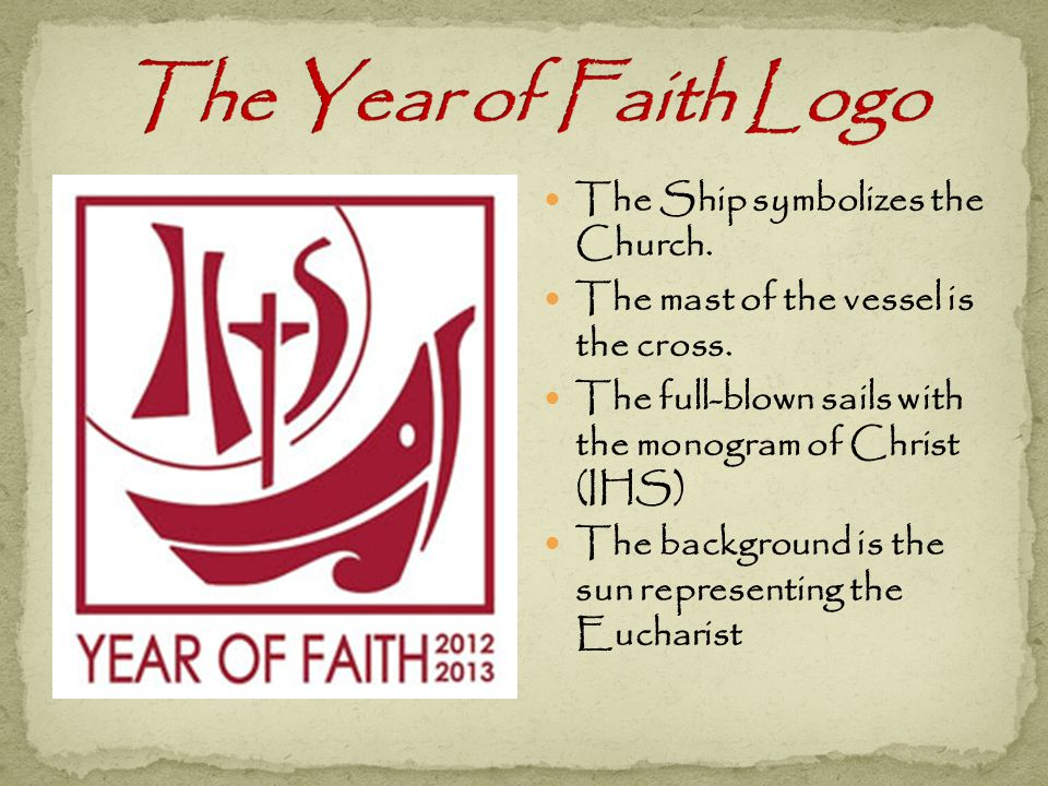 The Ship symbolizes the Church. The mast of the vessel is the cross.