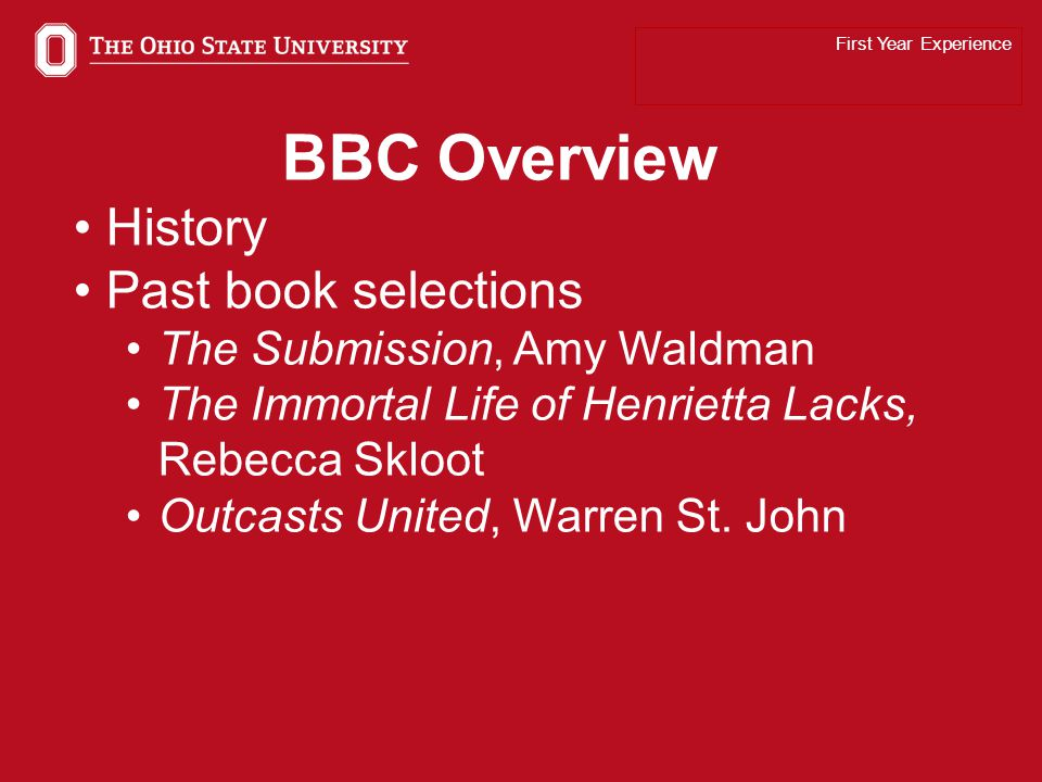 7 BBC 2014 The Glass Castle by Jeannette Walls First Year Experience