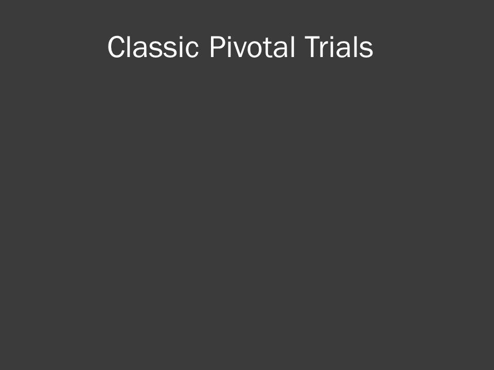 Classic Pivotal Trials