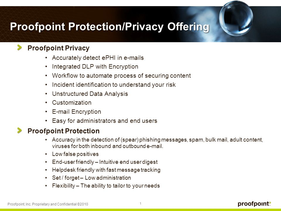 1 Proofpoint, Inc.