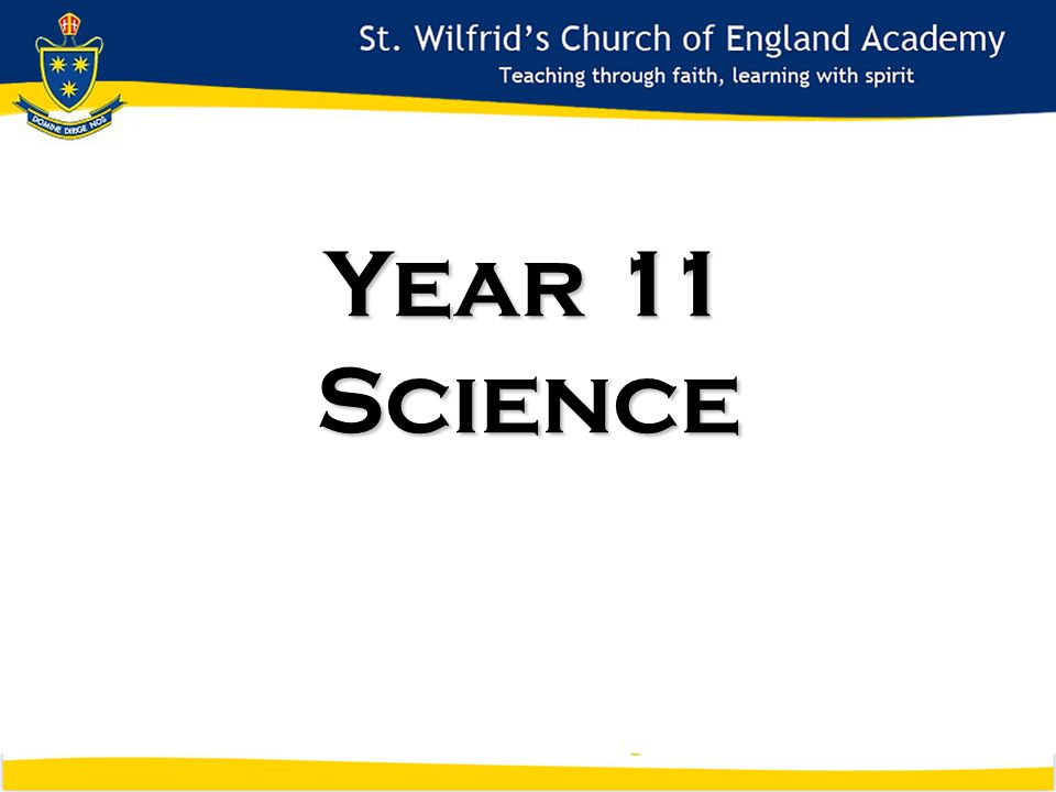 Year 11 Science