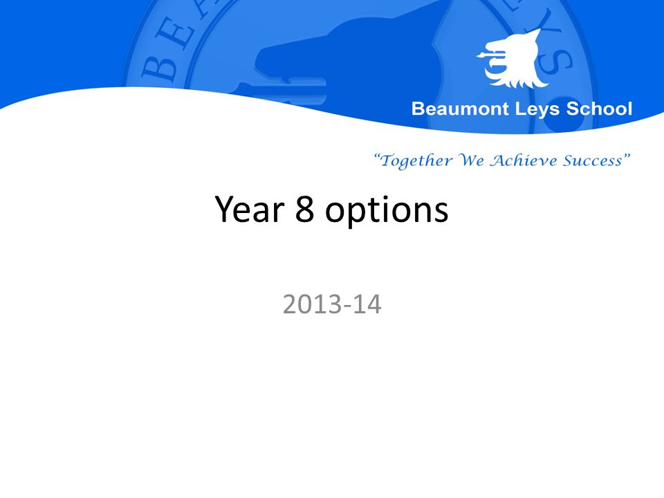 Year 8 options 2013-14