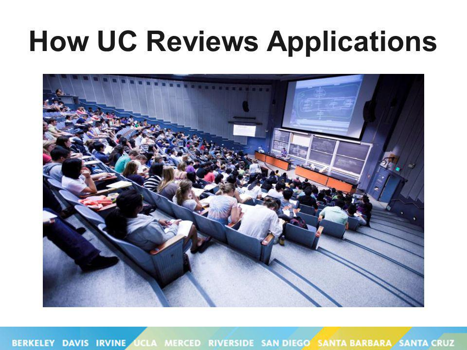 How UC Reviews Applications