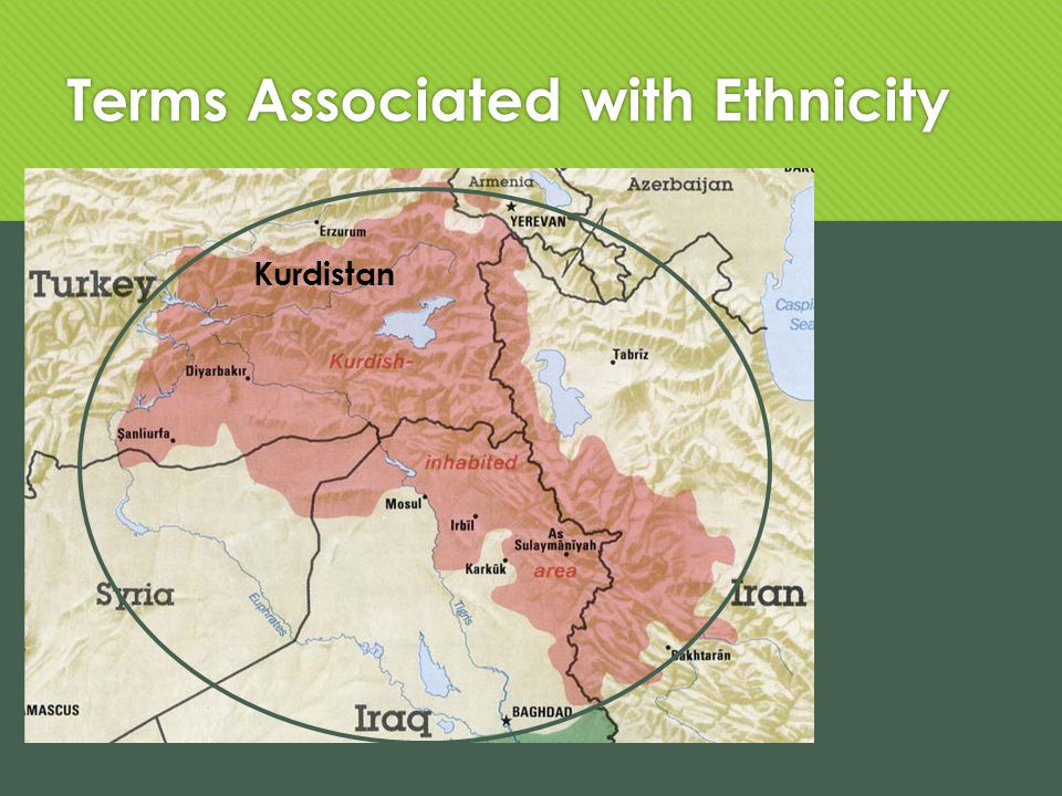 Terms Associated with Ethnicity Kurdistan