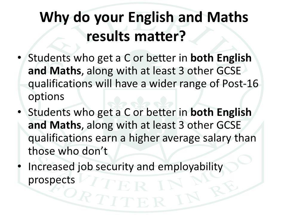 Why do your English and Maths results matter.