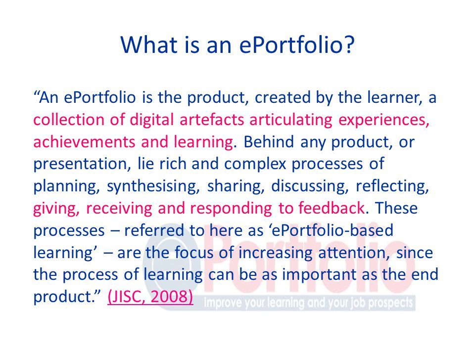 What is an ePortfolio.